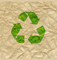 recycle poster with cardboard background vector image