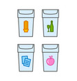 recycle waste bins vector image vector image