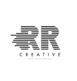 rr r zebra letter logo design with black and vector image