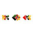 set arrow geometric logo icons banners or vector image