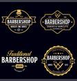 set of vintage barbershop labels templates for vector image vector image