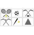 Sport with a ball and puck vector image vector image