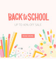 square web banner template for back to school vector image vector image