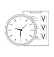 time management line vector image vector image