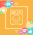 washing machine linear icon vector image