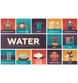 water concept - set of flat design infographics vector image