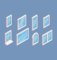 window isometric industrial aluminium white vector image vector image