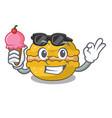 with ice cream banana macarons cake shape
