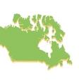 canada map silhouette icon vector image