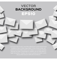 Abstract background with white envelopes vector image