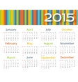 Abstract colored calendar 2015 year vector image