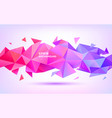 abstract geometric low poly 3d shape vector image vector image