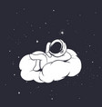 astronaut lies on the cloud vector image vector image