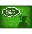 back to school girl speech and thought vector image vector image