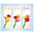banner design with bouquet of cloves vector image vector image