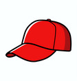 baseball cap isolated on white vector image vector image