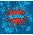 Boom comics icon in Pop-Art style vector image vector image