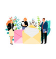 business people send letters vector image vector image