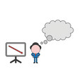 businessman character with blank thought bubble vector image
