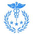 caduceus logo grunge icon vector image vector image