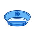 captain hat line icon vector image