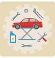 Car repair service icons vector image