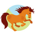 cartoon galloping horse vector image