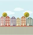 Cartoon town vector image