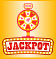 casino online fortune wheel with slots and money vector image vector image
