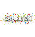 Celebration paper banner vector image vector image