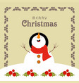 christmas card with frame and santa clause vector image vector image