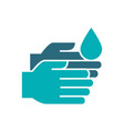 cleaning hands with disinfectant colored icon vector image