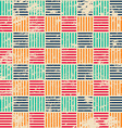 colored woven seamless pattern with grunge effect vector image
