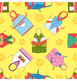 colorful kitchen aprons isolated seamless vector image vector image