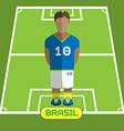 Computer game Brasil Football club player vector image vector image