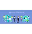 Customer Relationship Concept Design vector image