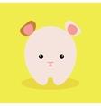 Cute Cartoon hamster vector image