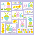 cute easter bunny and chick graphics vector image
