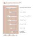 Detailed of Knife and Fork Collection vector image