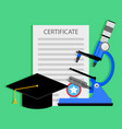 diploma science degree concept vector image vector image