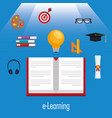 education supplies set icons vector image