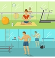 Fitness For Men And Women Compositions vector image vector image