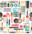 flat cosmetics seamless pattern beauty fashion vector image vector image
