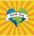 for earth day earth in form of heart vector image