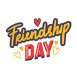 friendship day typography with doodle drawings vector image