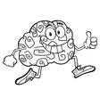 Funny Brain Cartoon