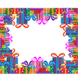 gifts frame vector image vector image
