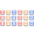 glass-effect-buttons vector image