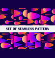 gradient geometric shapes seamless patterns cover vector image vector image