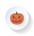 Halloween pumpkin flat icon vector image vector image